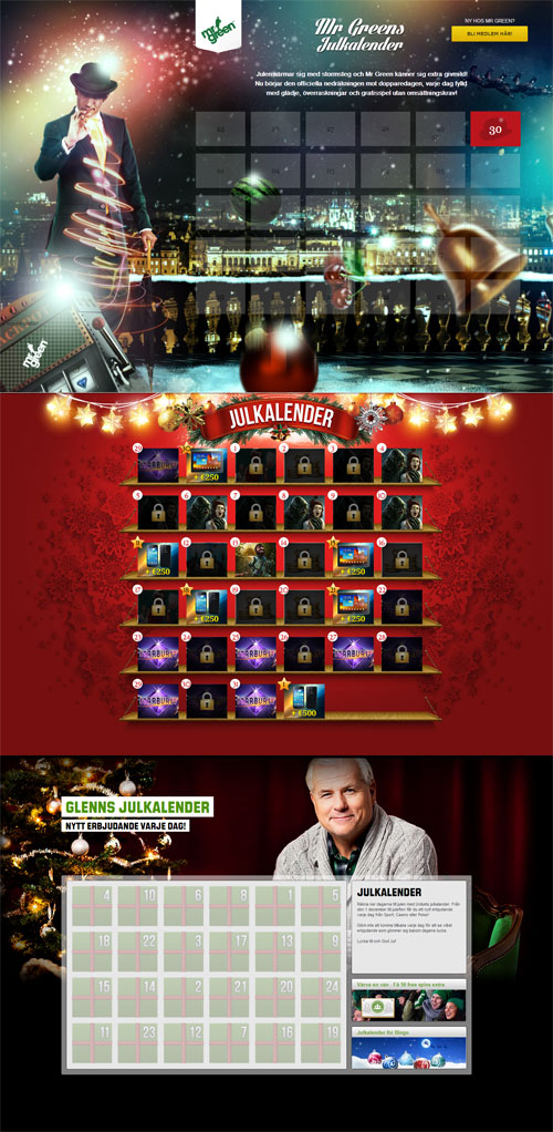 Adventskalendrar i casinon 2013